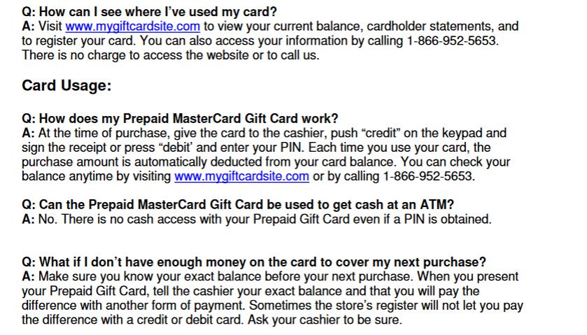 mygiftcardsite check balance